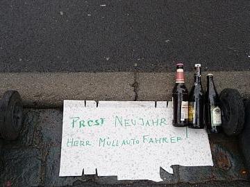 Nette Geste für Müllautofahrer in Wernfeld