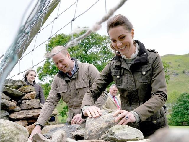 Royals unter Schafen: Kate und William packen kräftig mit an