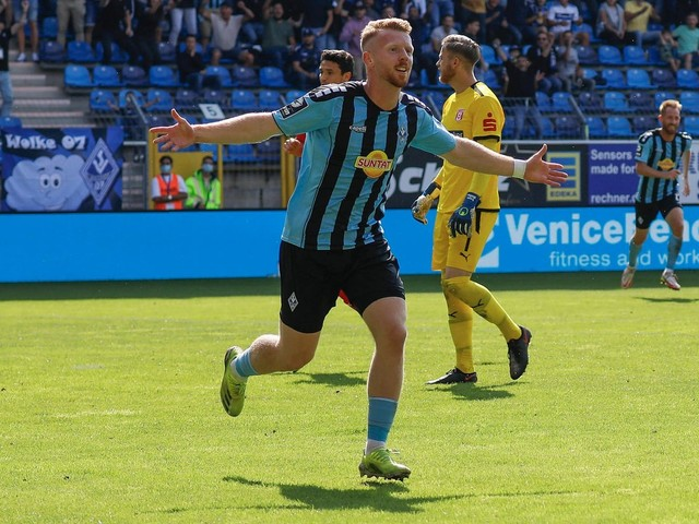 Fußball   3. Liga: Waldhof Mannheim feiert Heimsieg gegen Halle