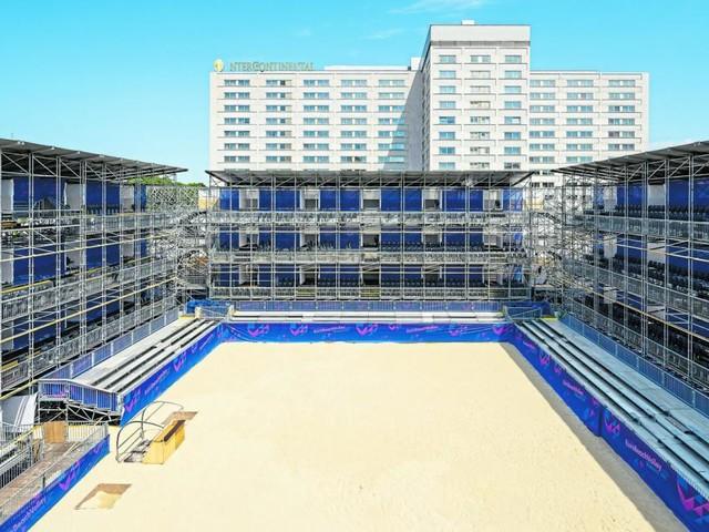 Beachvolleyball-EM am Heumarkt: Ein Stadion wie ein Opernhaus