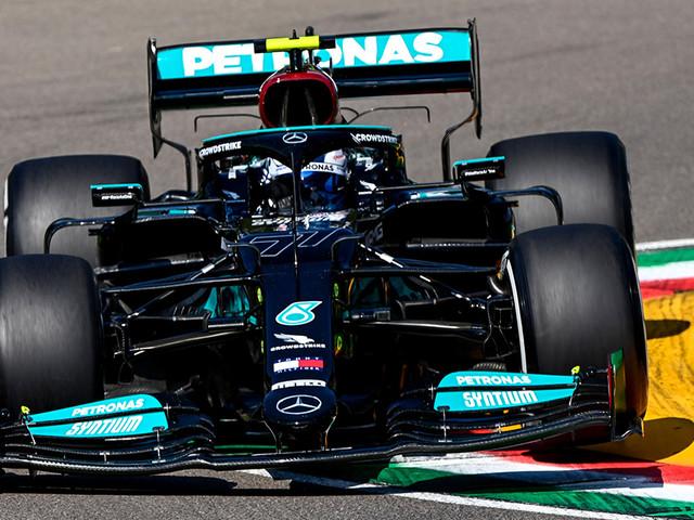 Formel 1: Imola-GP, Training Mercedes vorn, Mazepin crasht wieder