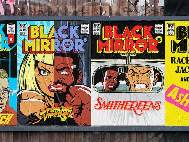 Butcher Billy verpasst den neusten 'Black Mirror'-Episoden Vintage Comic-Cover