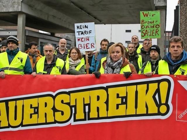 Neuer Streik: Mitarbeiter von Gilde-Brauerei reagieren auf Zerschlagung