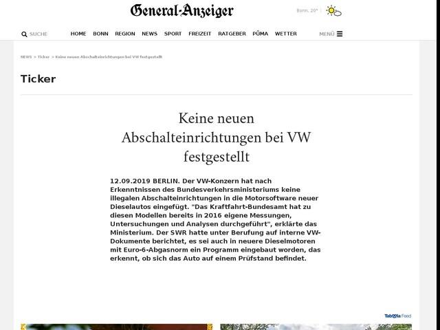 Keine neuen Abschalteinrichtungen bei VW festgestellt