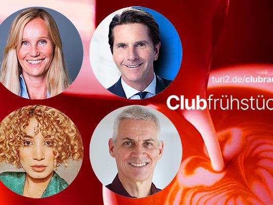 Schröders Podcast & Baerbocks Chancen – so lief das Clubfrühstück mit Béla Anda und Ina Tenz.