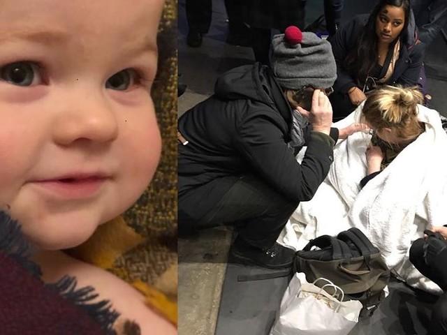 Geburt mitten in London - Mutter sucht unbekannten Geburtshelfer: Er gab ihr seinen Schal