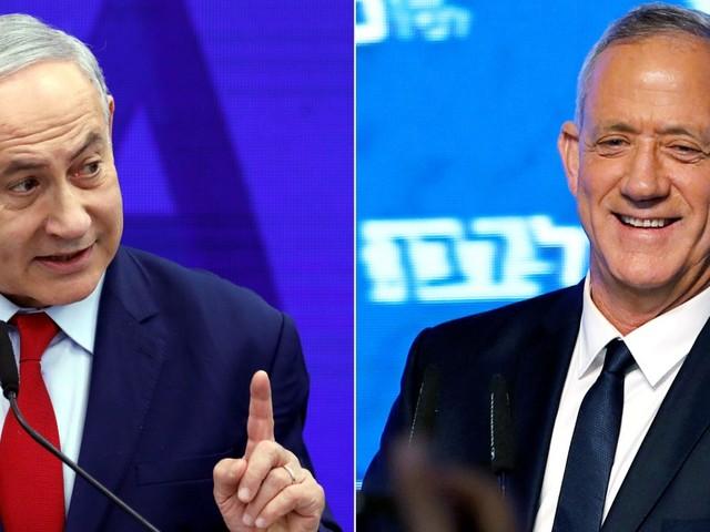 Wahl in Israel: Erste Prognosen - Netanjahu und Gantz gleichauf