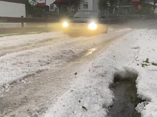 Allgäu und Belgien von neuem Starkregen und Hagel getroffen