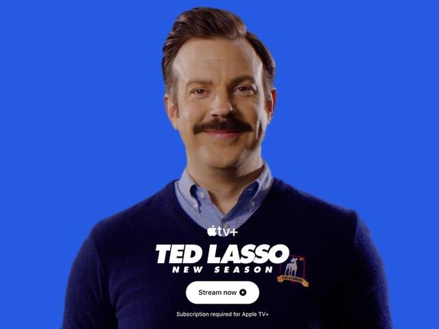 Ted Lasso übernimmt die Apple-Homepage, um die Veröffentlichung der zweiten Staffel zu feiern