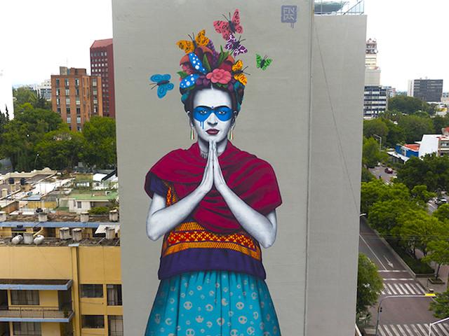 'Magdalena' – Street Artist Fin DAC mit gigantischer Mural-Hommage an Frida Kahlo
