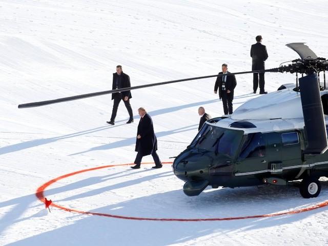 Weltwirtschaftsforum Davos: Macron und Trump nehmen Sonderzölle vom Tisch