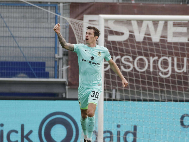 TSV 1860 punktet bei Wehen Wiesbaden: Steinhart bricht den Bann - Löwen bleiben Dritter