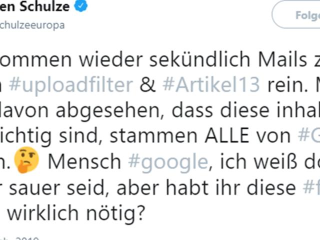 Artikel 13 - EU-Urheberrecht: Demonstranten reagieren auf Verschwörungstheorie von CDU-Politiker
