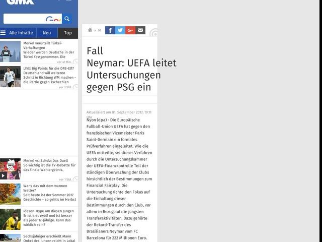 Fall Neymar:UEFAleitet Untersuchungen gegen PSG ein