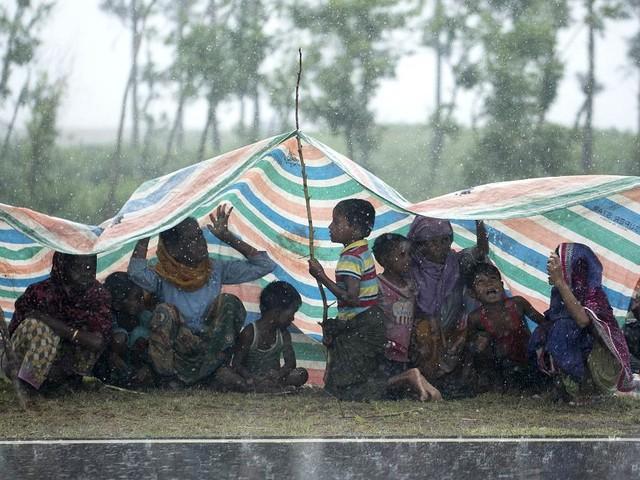 Flüchtlinge aus Myanmar - Monsunregen belastet Rohingya-Lager in Bangladesch