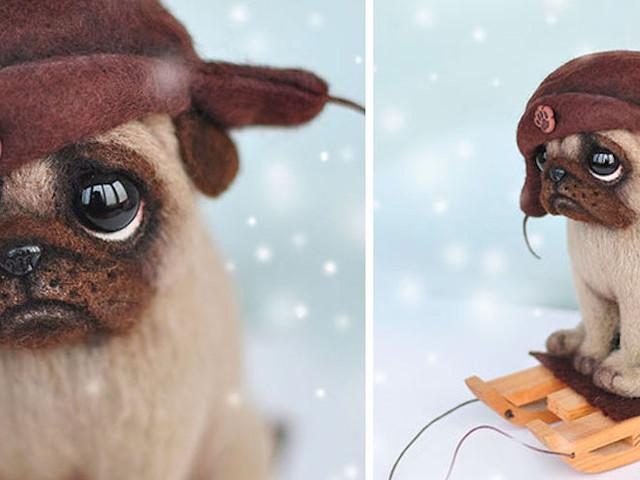 Bezaubernde Hunde aus Filz von MamaDocha aus Russland