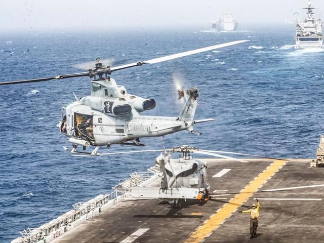 """Als die Iraner 450 Meter entfernt waren, schickte die """"Boxer"""" Hubschrauber los"""