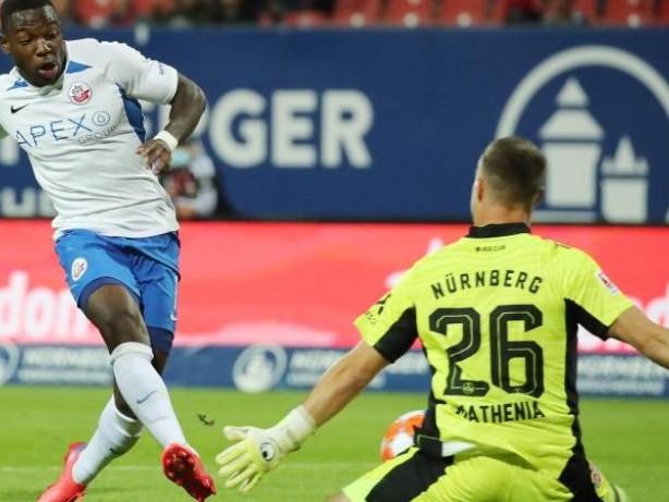 Fußball: 0:1 in Nürnberg: Hansa Rostock durch Joker-Tor geschlagen