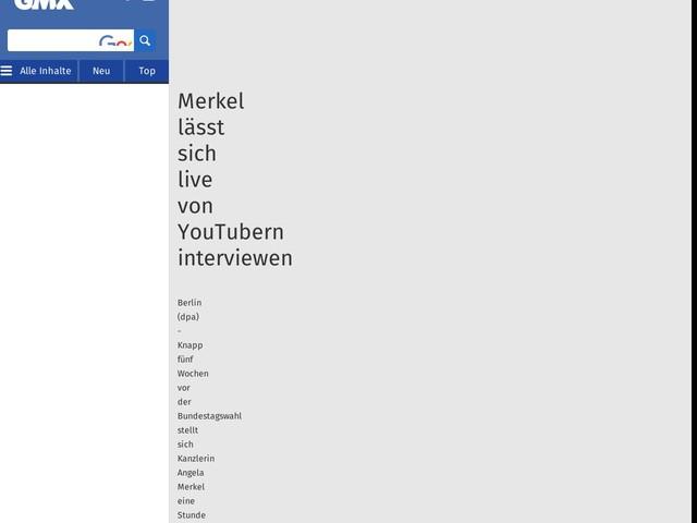 Merkel lässt sich live von YouTubern interviewen