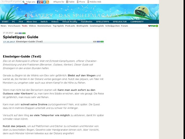 Einsteiger-Guide: Elex