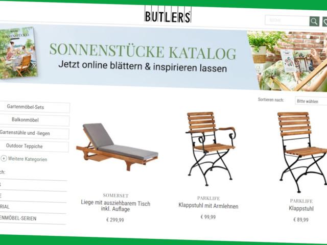 Butlers: Gartenmöbel & Co. online günstiger