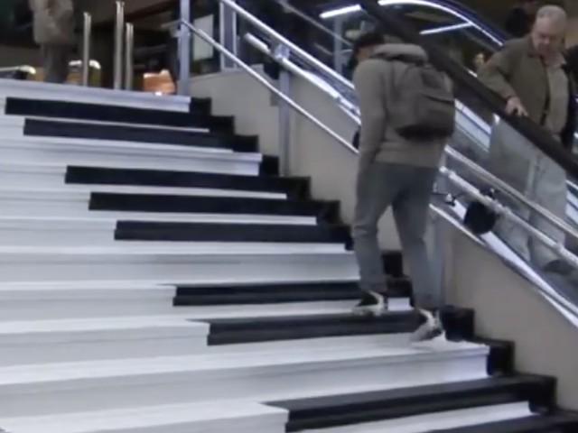 Piano-Treppen – jeder Schritt ein Ton