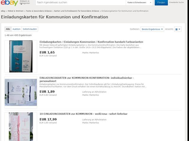 Einladungskarten Für Kommunion Und Konfirmation   EBay