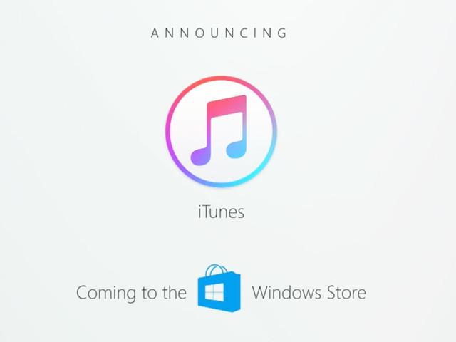 iTunes im Windows 10 Store verschiebt sich