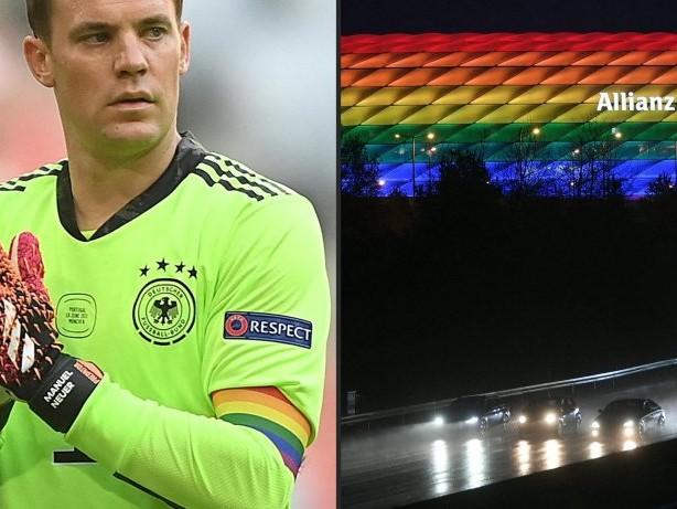 Merkel: Uefa macht Unterschied bei Regenbogen-Stadion und Armbinde von Neuer