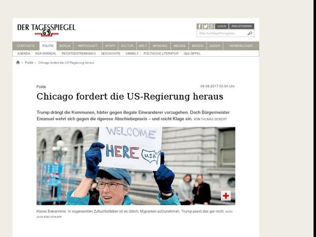 Chicago fordert die US-Regierung heraus