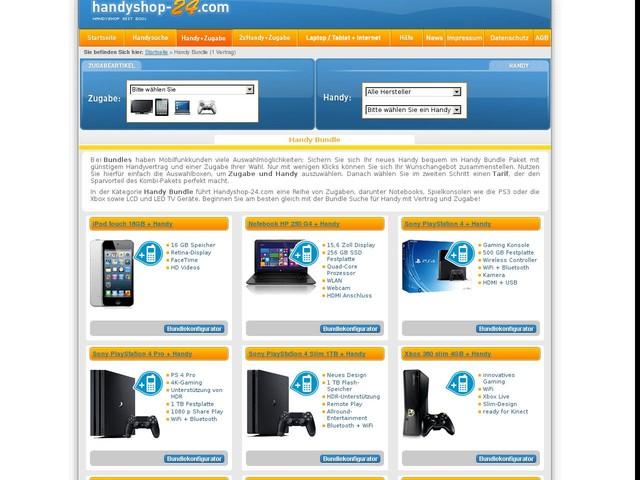 Handy Bundle Angebote günstig | Handyvertrag + Zugabe