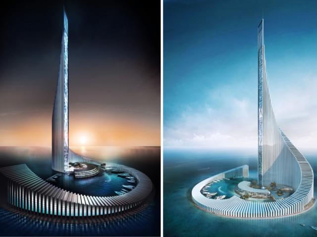 """Der """"Domino Tower"""" soll das neue Highlight auf Sansibar werden"""