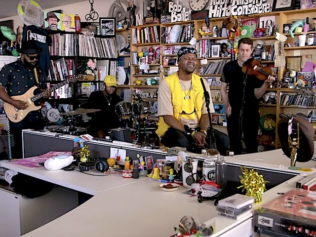 BJ The Chicago Kid performs live @ NPR Music Tiny Desk Concerts // Video