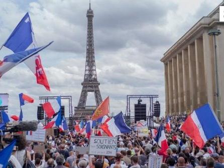 Demonstrationen gegen Corona-Maßnahmen inEuropa