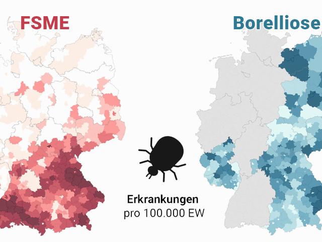 Zecken-Atlas: Wo sich Zecken in Deutschland festsaugen