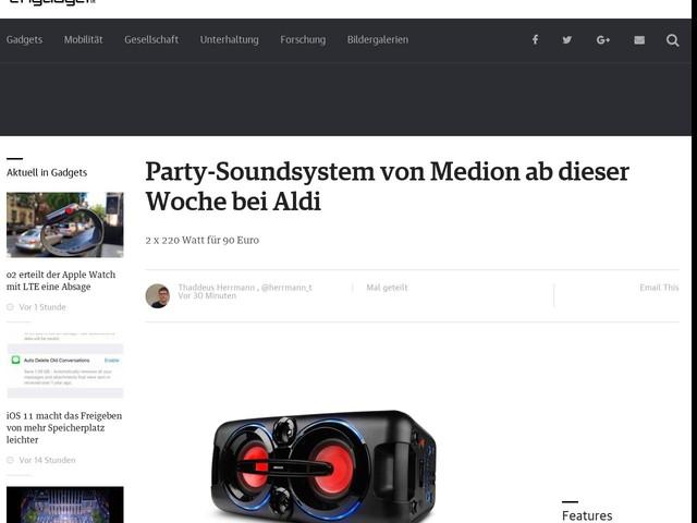 Party-Soundsystem von Medion ab dieser Woche bei Aldi
