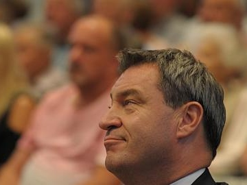 Wahlkampf mit Markus Söder