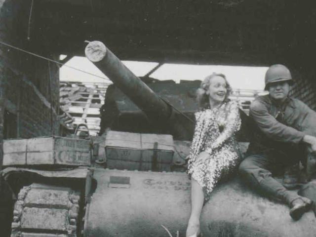 Längst in Vergessenheit geraten: Marlene Dietrich besucht amerikanische Truppen in Gillrath