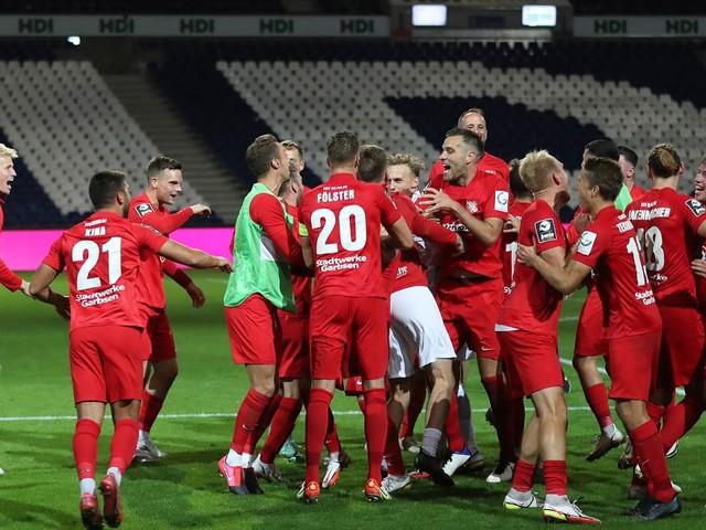 So waren die Spieler des TSV Havelse beim ersten Saisonsieg in Form