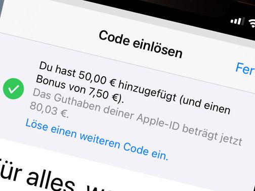 Guthaben für Apple, Deezer, waipu und TVNOW auch online günstiger