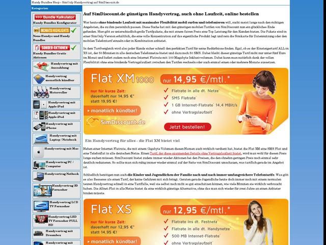 SimOnly Handyvertrag auf SimDiscount.de