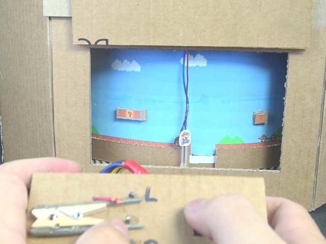 Super Mario Level aus Pappe