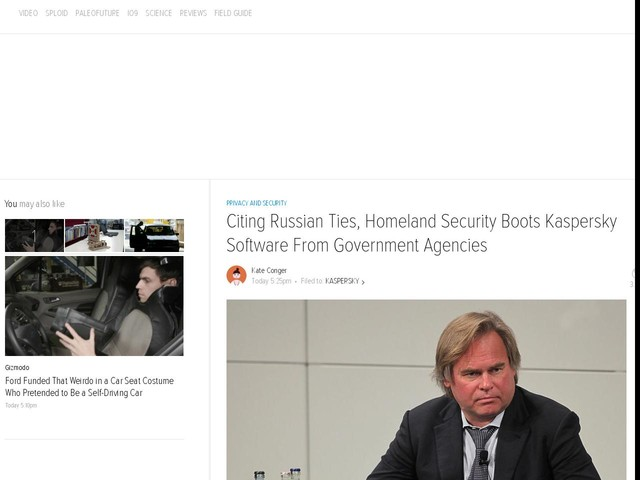 Citing Russian Ties, Homeland Security Boots Kaspersky Software From Government Agencies