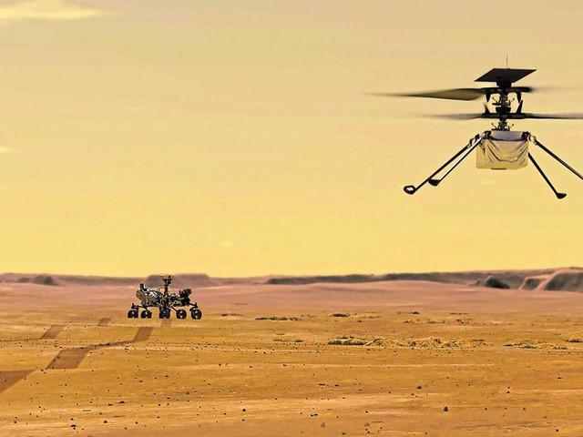 """NASA-Hubschrauber """"Ingenuity"""" absolvierte ersten Flug auf dem Mars"""