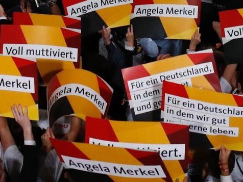 Angela Merkel einsam an der Spitze