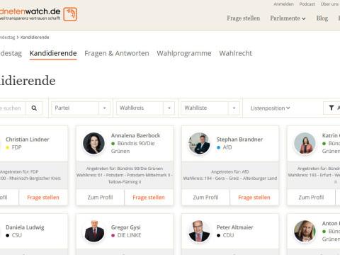 Abgeordnetenwatch: Frageportal zur Bundestagswahl gestartet