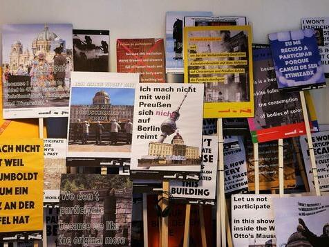 Ausstellung zeigt Kunst als Kontrapunkt zum Humboldt Forum