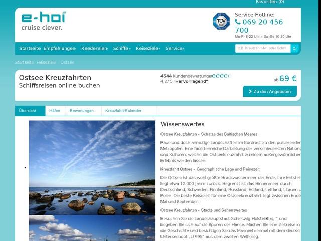 Ostsee Kreuzfahrt - beste Schiffsreisen Angebote mit Flug