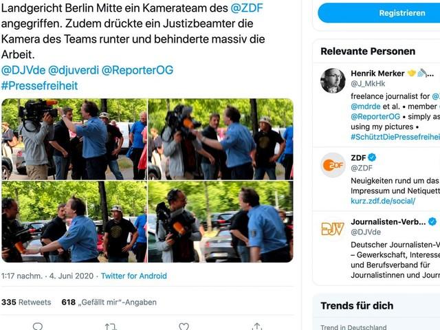 ZDF-Fernsehteam in Berlin angegriffen