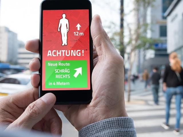 Neue App warnt beim Gehen vor Kollisionen mit anderen Smartphone-Nutzern